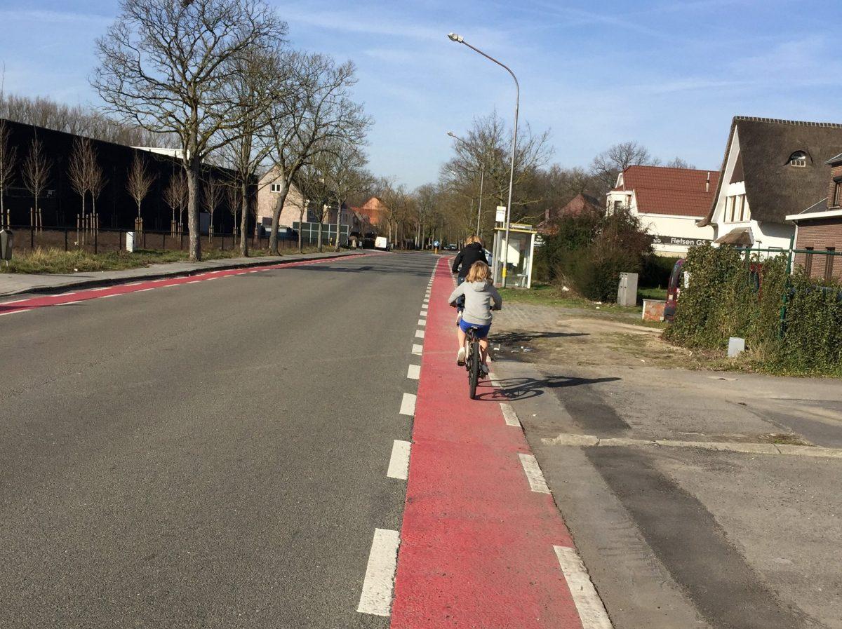 Moordstrookje aan de Zemstbaan te Mechelen, ter hoogte van de Carrefour