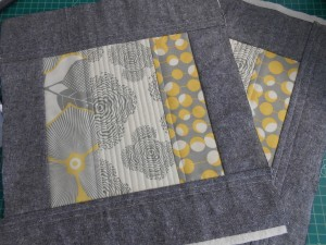 Quilted bag sections