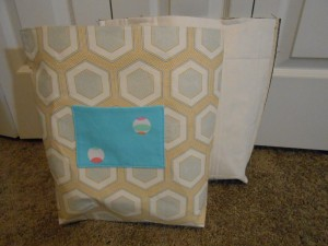 Tote bag sections