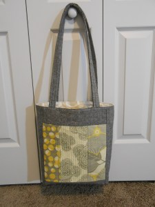 Finished tote bag tutorial