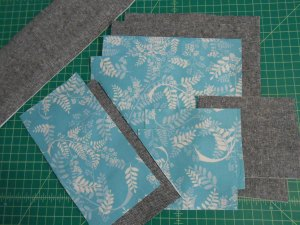 Fabric Basket Scrap Pieces