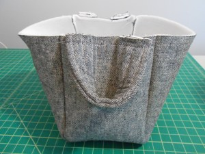 Fabric Basket Sewn Exterior Side