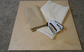 Pressing board supplies wood batting muslin staple gun