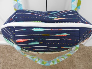 Aeroplane Bag Sew Sweetness exterior top zipper
