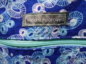 Aeroplane Bag Sew Sweetness Moore Approved label