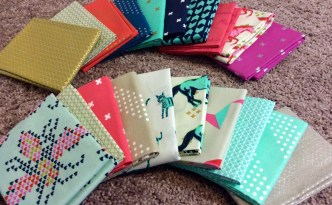 Cotton and Steel fat quarters fabric stash