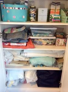 Craft room Ikea Hemnes cabinet bottom