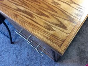 Craft room handmade wood table grain
