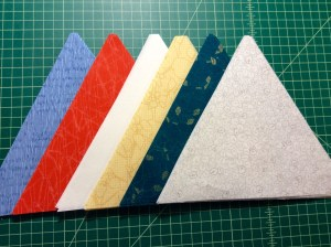 Carolyn Friedlander Botanics fabric 60 degree triangles 2