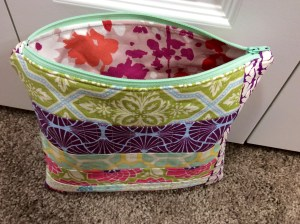 Patchwork Zipper Pouch Opened