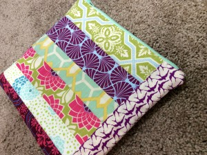 Patchwork Zipper Pouch Tilt