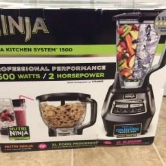 Ninja 1500 Watt Mega Kitchen System Folding Island Moore Approved Box Blender