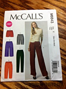 McCalls Pattern M6843 Misses Shorts and Pants FRONT