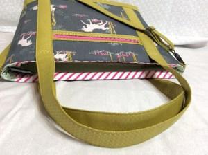 Sew Sweetness Tudor Bag Fantasia Art Gallery Fabrics unicorn purse lying down