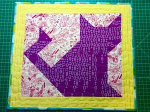 #KittenMQS2015 kitten quilt swap cat wide front quilt solo