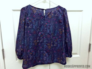 Simplicity 1693 Pattern Blouse Ikat Back