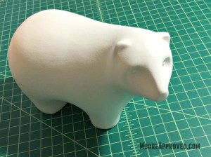 Target Handmade Modern Porcelain Bear Figurine White Chalk Paint Wax