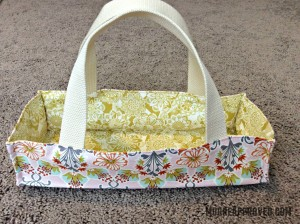 Moore Approved On The Go Fabric Basket Top Stitched Edge