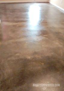 Workshop Progress Concrete Floor Maintainer tool rental clean home depot moore approved sealer first coat dark