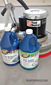 orkshop Progress Concrete Floor Maintainer tool rental clean home depot moore approved sealer polish zep products