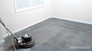 Workshop Progress Concrete Floor Maintainer tool rental paint drywall mud residue clean cleaning solution home depot moore approved
