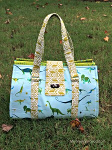 Moore Approved Swoon Patterns Nora Doctor Bag Alison Glass Sun Print Lizzy House Natural History Fabric front