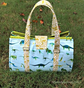 Moore Approved Swoon Patterns Nora Doctor Bag Alison Glass Sun Print Lizzy House Natural History Fabric full back