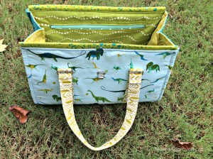 Moore Approved Swoon Patterns Nora Doctor Bag Alison Glass Sun Print Lizzy House Natural History Fabric zippered pocket interior