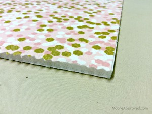 Quilted Cube Case Moore Approved Main Fabric Fused to Pellon Fusible Flex Foam Pink Gold Brambleberry Ridge Dots