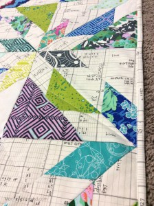 Moore Approved Scrappy Hunters Star Quilt Modern Amy Butler Violette Carolyn Friedlander Architextures Alison Glass Sunprint fabric edge binding white