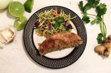 Healthy Turkey Meatloaf with Thai seasoning