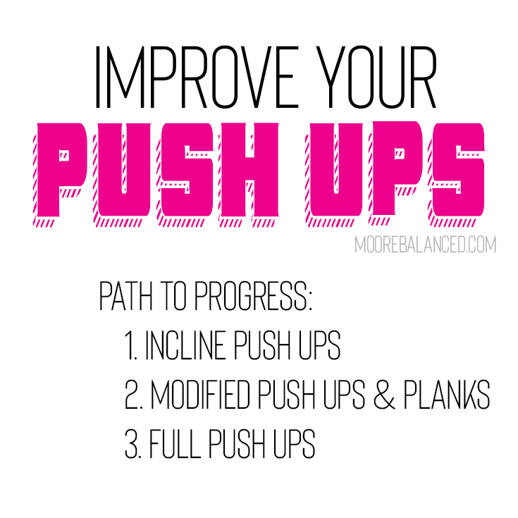 Steps to better pushups