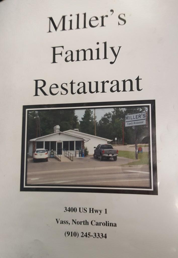 Miller's Family Restaurant menu