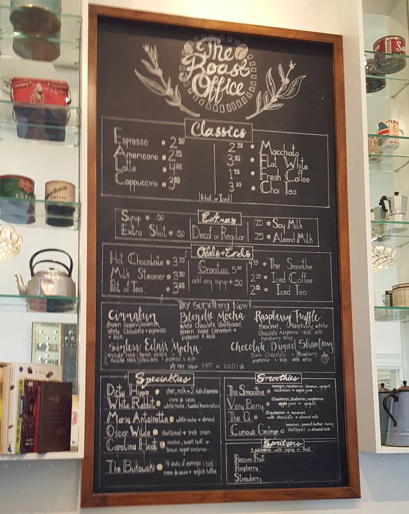 roast office menu