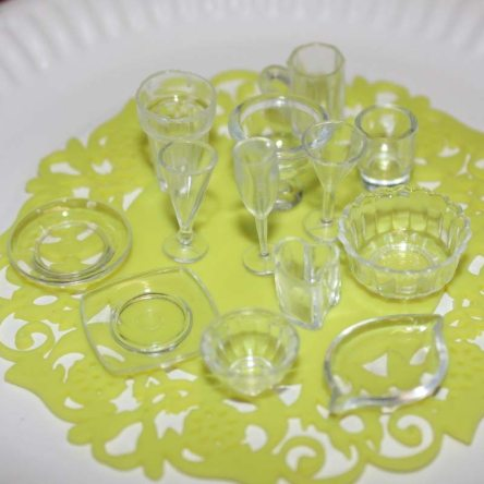 Miniature Resin Tableware Set for Doll House