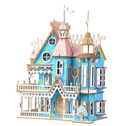 Miniature Wooden Castle DIY Doll House for Kids
