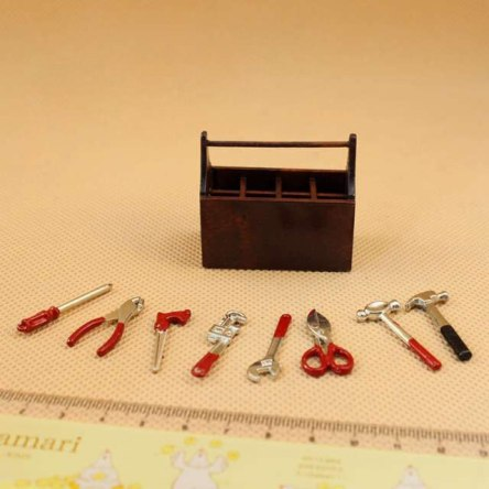 1:12 Miniature Tool Box Set for Dollhouse Home Accessories