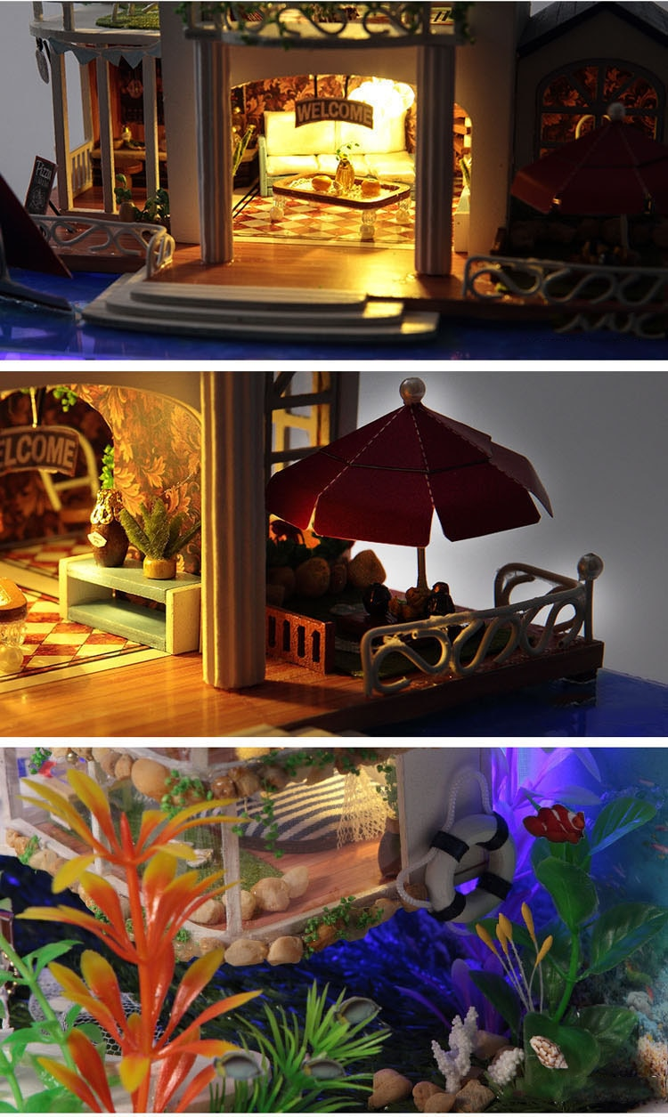 Furniture Diy Doll House Wooden Miniature Doll Houses Furniture Kit Puzzle Handmade Dollhouse Craft Toys For Children Girl Gifts