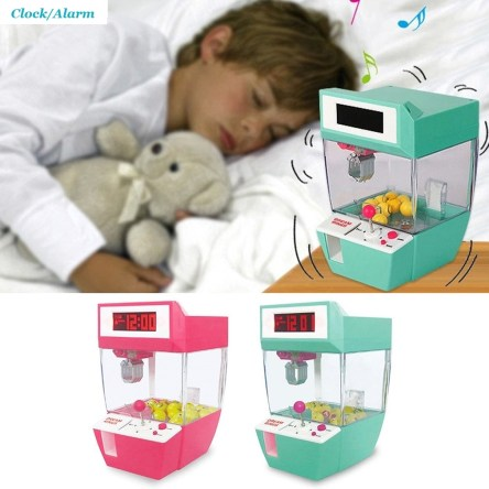 Miniature Coin Operated Toy Grab Alarm Clock