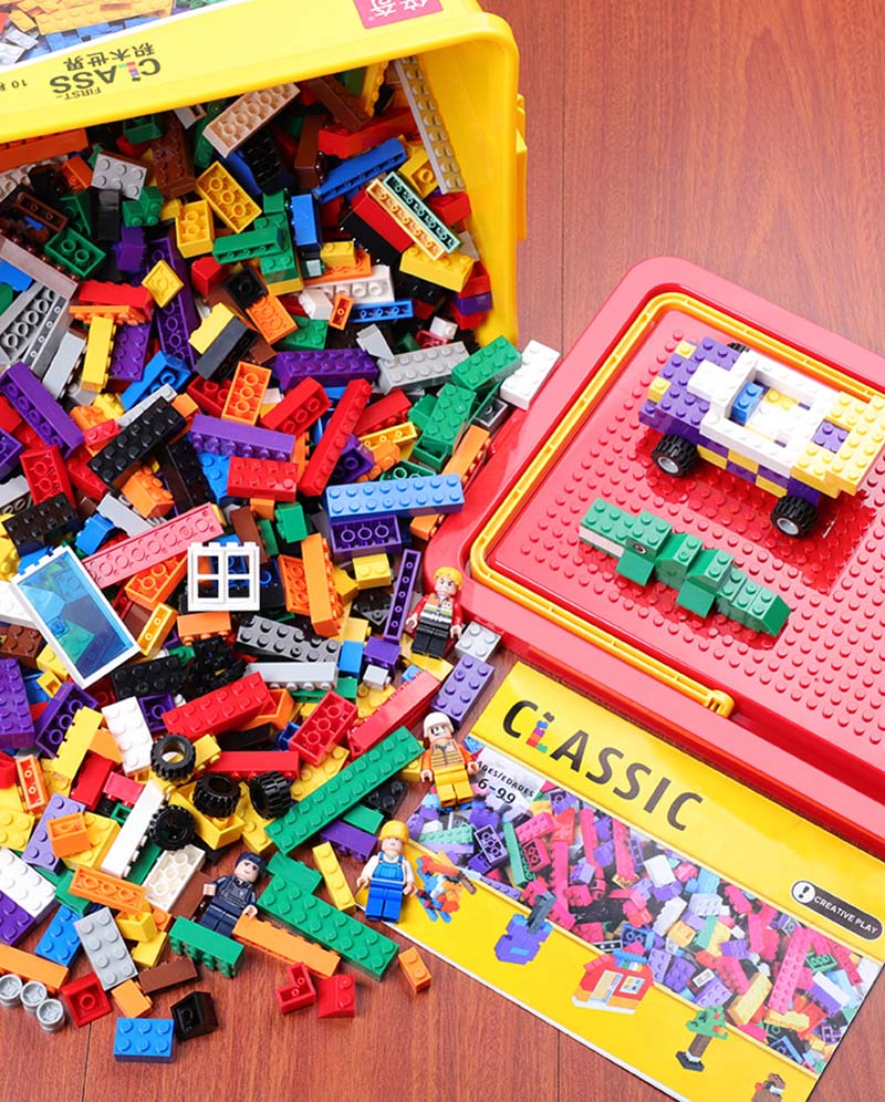 building blocks sets 1000 pcs classic city creator colorful bricks compatible with top brand kids educational toys for children