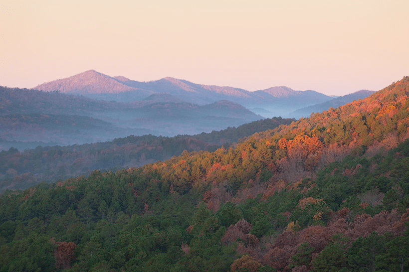 November 2 2009  Ouachita Mountains