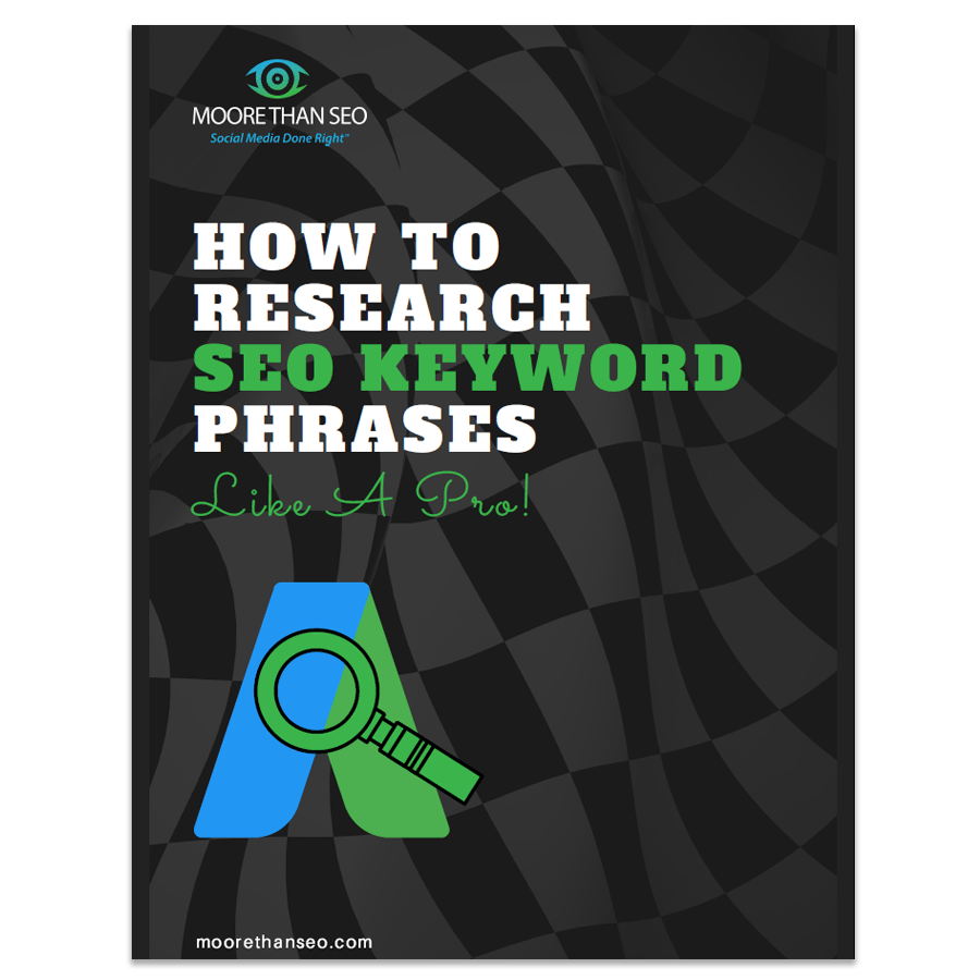 Shows cover of guidebook on How To Research SEO Keywords Like A Pro