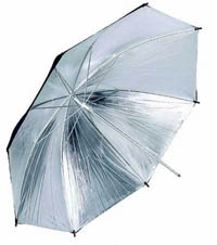 Belichting Reflector Paraplu Zwart Zilver