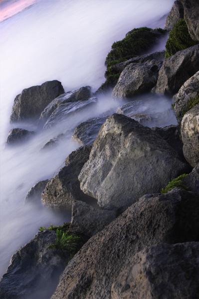 mistig water aan de Merwede