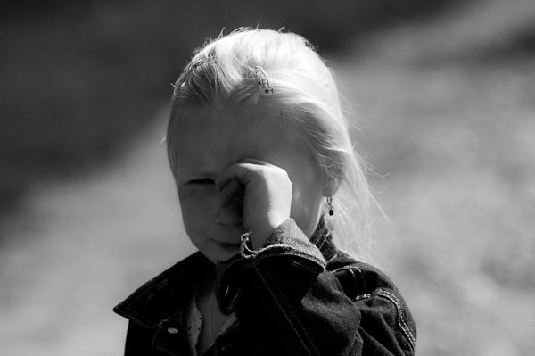 Woordloze Woensdag Kind Verdriet Kinderverdriet Zwartwit