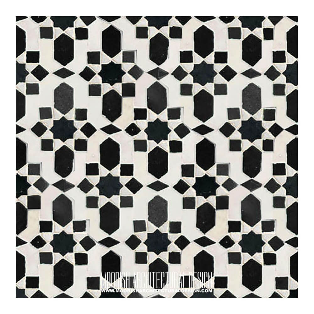 cheap kitchen cabinet hardware trash can buy moroccan tiles - black & white moorish tile