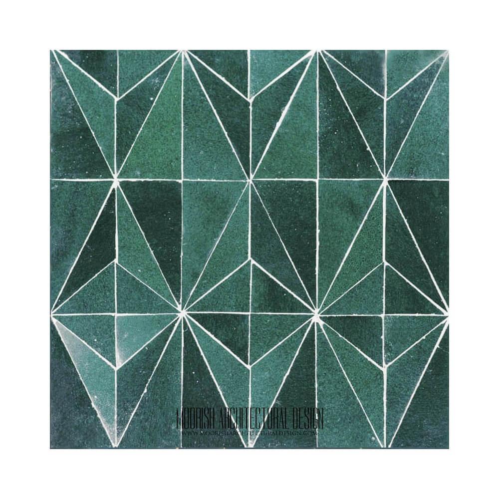 Moroccan Kitchen Green Moorish Tile