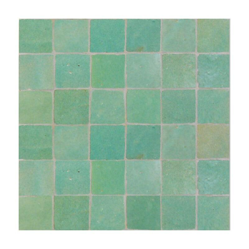 cart kitchen island freestanding cabinets green moroccan tiles: zellige 3