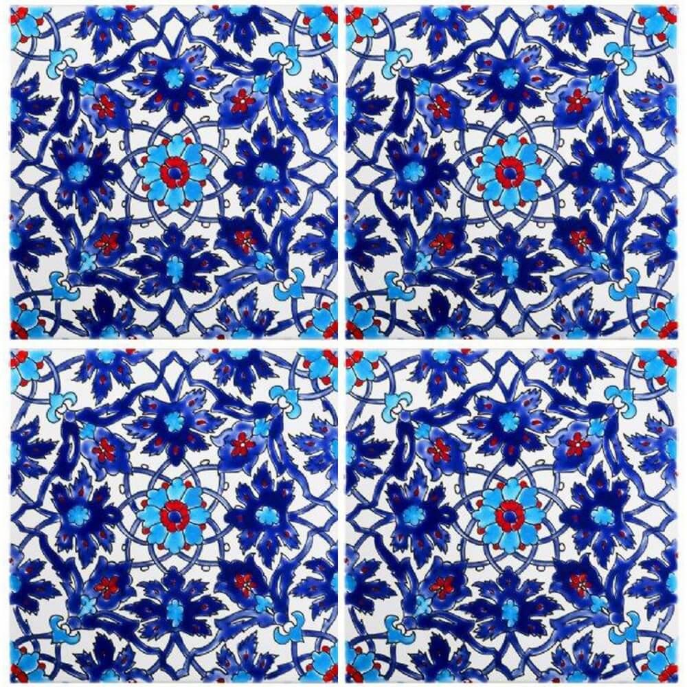 kitchen cabinet veneer glass backsplash blue pool tiles - iznik tile waterline ideas