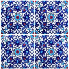 Kitchen Cabinet Doors For Sale Large Cart Blue Persian Tiles - Iznik Tile Waterline Ideas